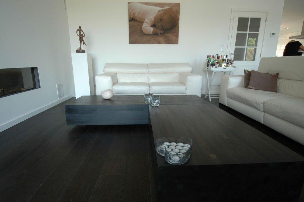 Brede eiken planken vloer in keuken woonkamer parketmeester