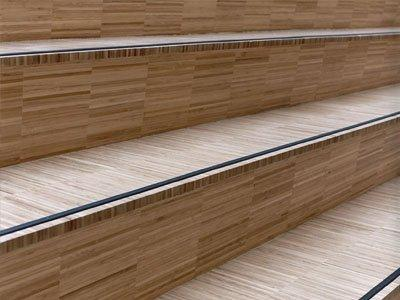 Bamboe trap – Hoogkant Caramel