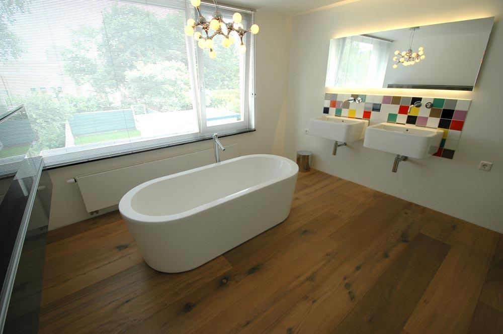 Vloer in badkamer